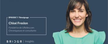 Chloé Freslon temoignage pour BRIDGR sur la place de la femme dans l'industrie et le monde technologique
