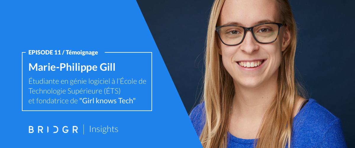 Marie-Philippe Gill, étudiante en génie logiciel à l'École de Technologie Supérieure (ÉTS) à Montréal et passionnée