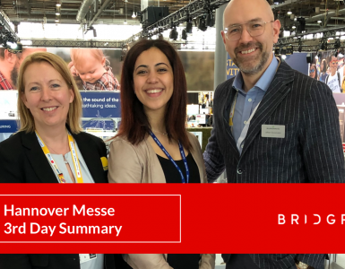 Hannover Messe : BRIDGR 3rd day summary